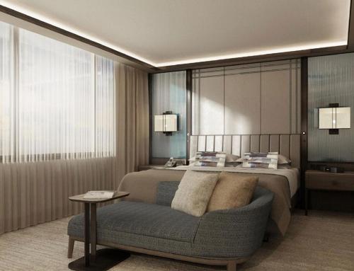 nature veneer mid century hotel room furniture