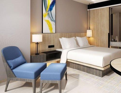 Motel furniture sample modern oak bedroom