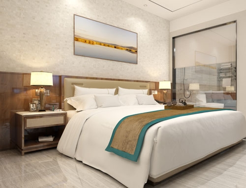 4 star hotel room furniture shiny veneer