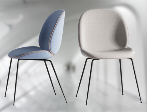 Gubi beetle dining chair for restaurant
