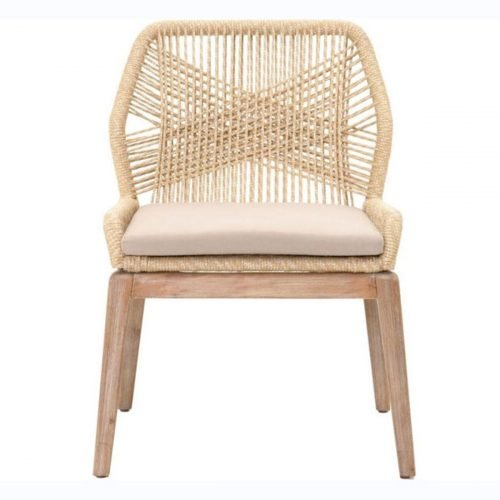 woven loom dining chair